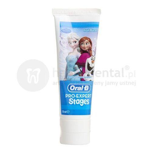 Oral-b pro-expert stages frozen 75ml - pasta z fluorem dla dzieci (kraina lodu)