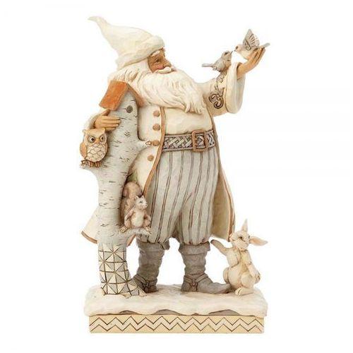 Mikołaj białe święta white woodland winter (santa) 4058735 figurka ozdoba świąteczna marki Jim shore