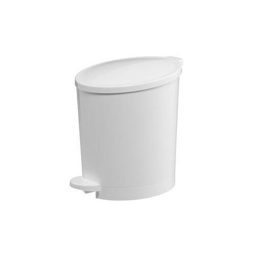 Kosz na śmieci 4 litry Bisk plastik biały (5901487033060)