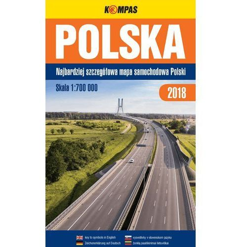 Polska Najbardziej szczegółowa mapa samochodowa Polski 1:700 000 - Praca zbiorowa (2018)