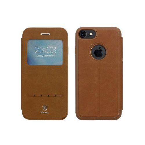 Baseus Apple iphone 7 - etui na telefon simple series leather case - brązowe