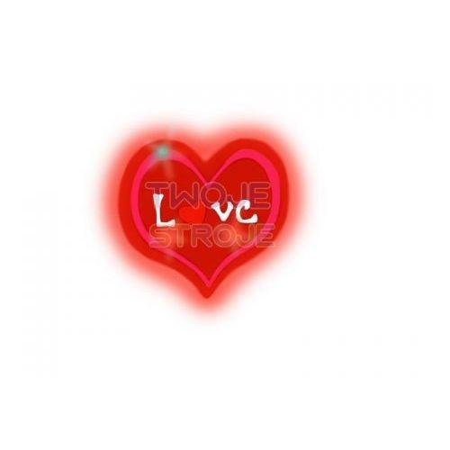 PIERŚCIONEK SERDUSZKO LOVE LED 1szt