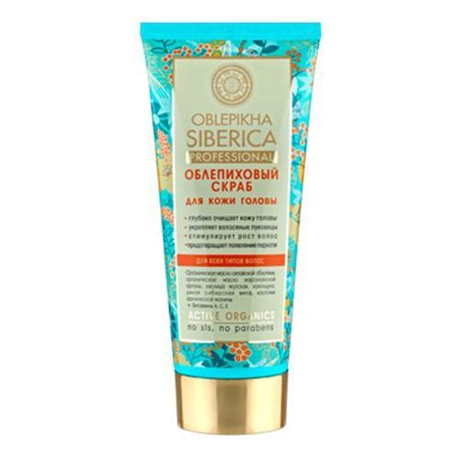 Natura Siberica Professional - scrub rokitnikowy do skóry głowy - dla wszystkich typów włosów - głębokie oczyszczenie wzmocnienie cebulek, stymulacja wzrostu - dzika syberyjska mięta, nagietek, łopian, szczawik zajęczy, olej rokitnika ałtajskiego oferta ze sklepu Kosmetyki Naturalne Maya