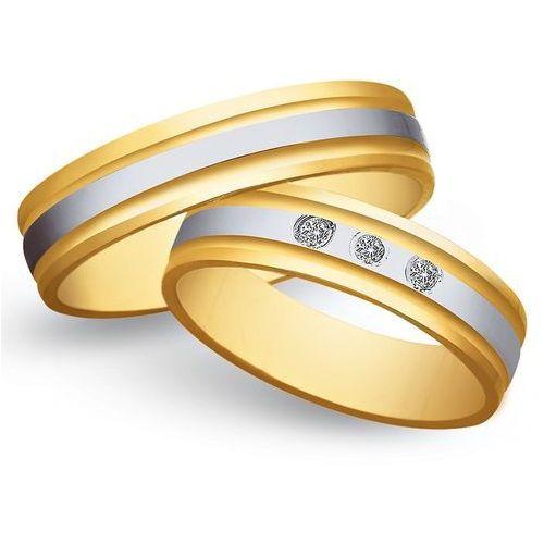 Obrączki z żółtego i białego złota 5mm - O2K/135 - produkt dostępny w Świat Złota