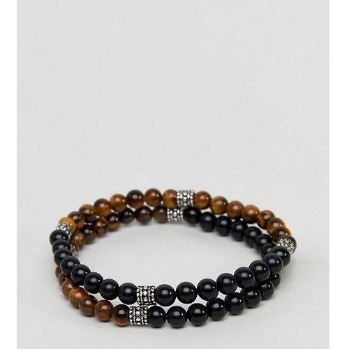 inspired beaded bracelet in 2 pack exclusive to asos - multi marki Reclaimed vintage