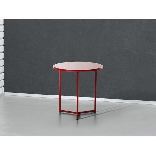 Nowoczesny stolik kawowy czerwony - lawa - stól - 50x50 cm - TRIBECA, Beliani z Beliani
