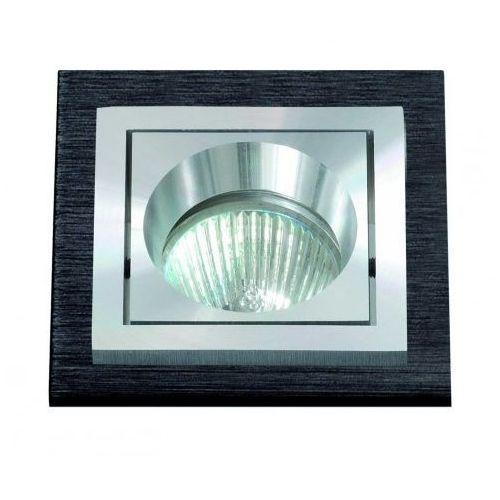 oczko kwadratowe SQUARE aluminium szczotkowane czarne GU10, BPM LIGHTING 3074GU
