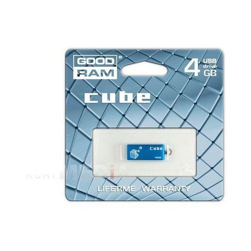 PENDRIVE GOODRAM 4GB CUBE BLUE, kup u jednego z partnerów