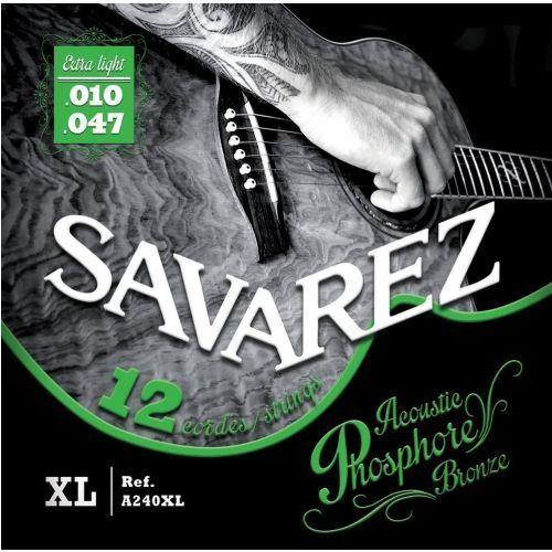 Savarez (668598) struny do gitary akustycznej Acoustic Phosphor Bronze - A240XL - 12-str. Ex-Light.010