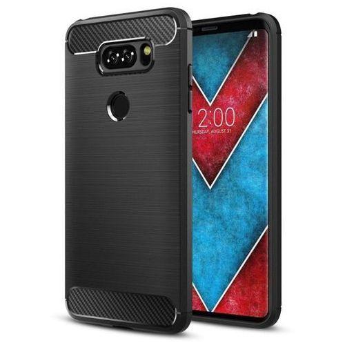 Carbon Case elastyczne etui pokrowiec LG Q60 / LG K50 czarny (7426825372949)