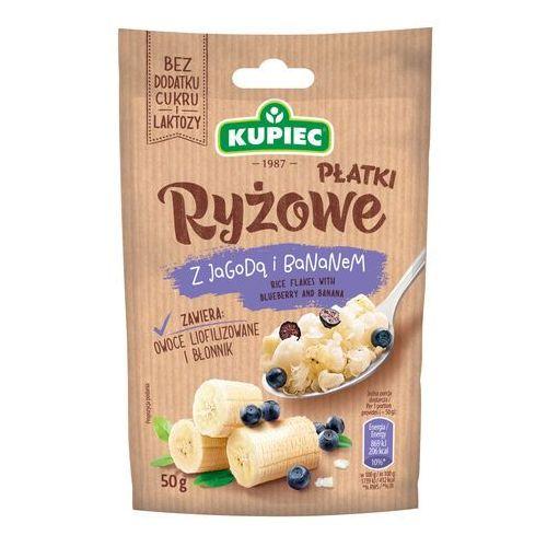 Płatki ryżowe z jagodą i bananem (folia) 50g (bez dodatku cukru i laktozy) (5906747174538)