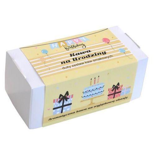 Box z kawą na urodziny – zestaw wyselekcjonowanych kaw aromatyzowanych, 20 smaków po 10g marki Cup&you cup and you