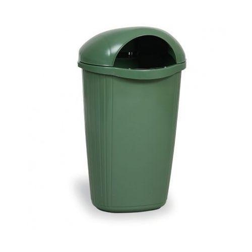 Zewnętrzny kosz na odpady na słupek DINOVA, ciemnozielony