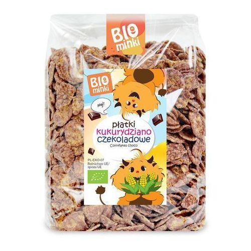 Biominki (przekąski dla dzieci) Płatki kukurydziano-czekoladowe bio 250 g - biominki (5902488064404)