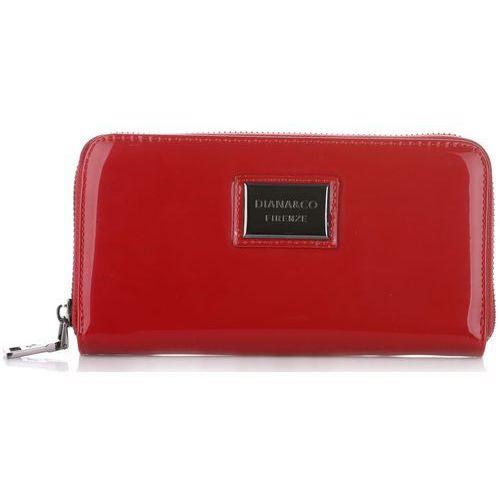 Elegancki portfel damski firenze lakier czerwony (kolory) marki Diana&co