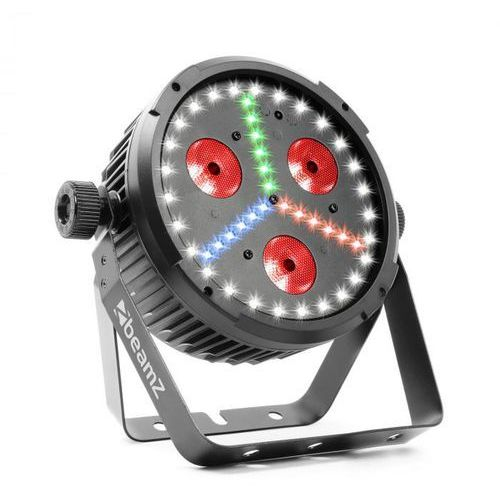 Beamz bx30 par projektor led 3 x dioda led 10 w 4w1, 27x dioda led smd w, 18x dioda led smd rbg kolor czarny (8715693299632)