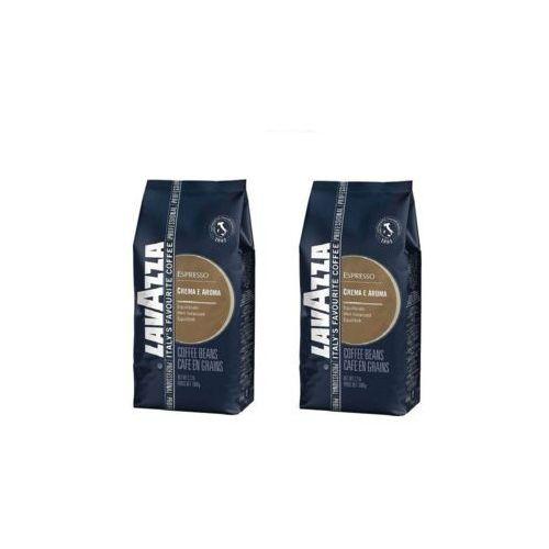 Zestaw 2x crema e aroma blue espresso kawa ziarnista 1kg marki Lavazza