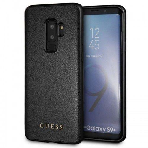 Guess Iridescent - Etui Samsung Galaxy S9+ (czarny), GUHCS9LIGLBK
