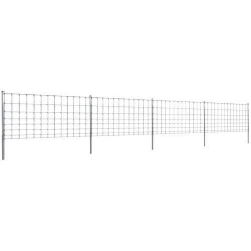 vidaXL Ocynkowane ogrodzenie ze słupkami, 50 m, 100/8/30 (140399+141103)