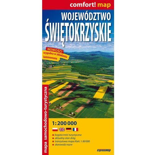 Województwo Świętokrzyskie laminowana mapa samochodowo-turystyczna 1:200 000 (1 str.)