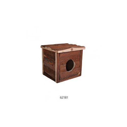 Drewniany domek dla gryzoni Jerrik Rozmiar:15 × 14 × 13 cm (klatka dla gryzoni)