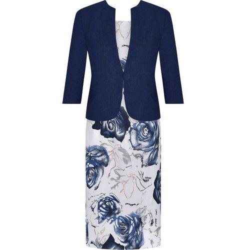 Kostium z lnu Karolina, wiosenna sukienka z żakietem. - produkt z kategorii- garsonki i kostiumy