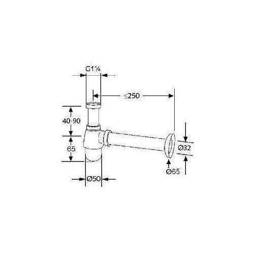 Kludi Esprit Syfon butelkowy do bidetu 1032305-40 - oferta (05864170b7956387)