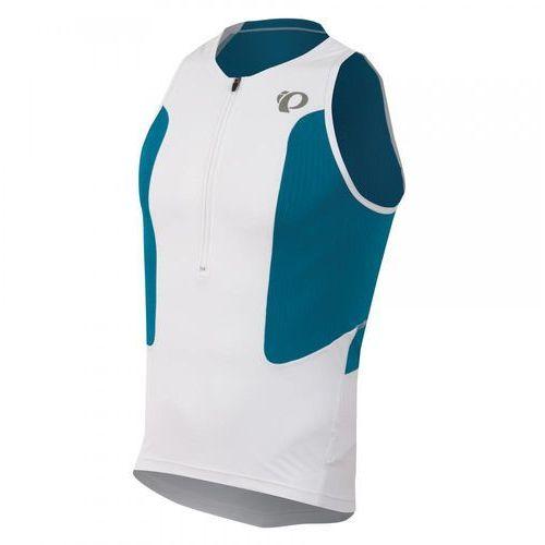 tri select - męska koszulka triathlonowa (biało-niebieski) marki Pearl izumi