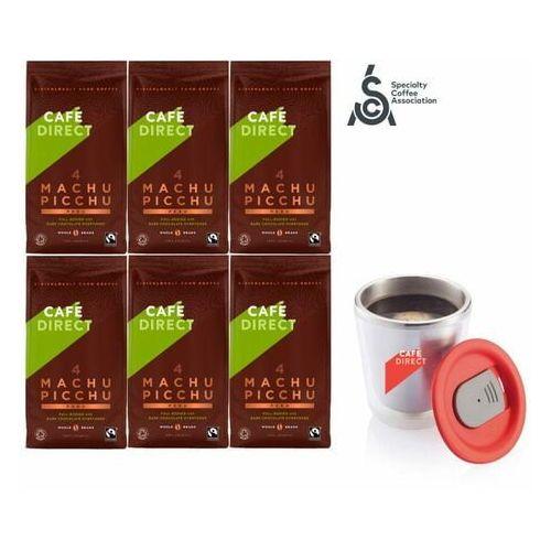 Cafédirect kawa ziarnista 6x bio machu picchu 227 g + kubek nierdzewny 200 ml (1234567000053)