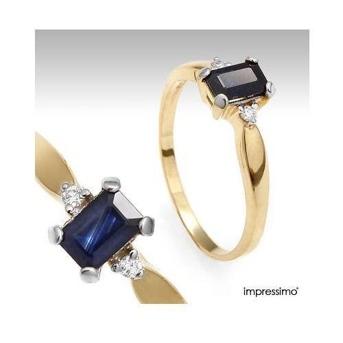 Pierścionek z szafirem i brylantami - 160 z kategorii pierścionki