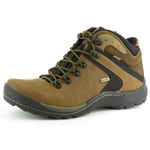 Trzewiki męskie trekkingowe BADURA 4227 - brąz