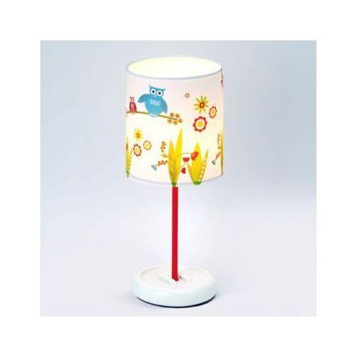 BRILLIANT Lampka na biurko średnia Birds, kolorowa LED ze sklepu pinkorblue.pl
