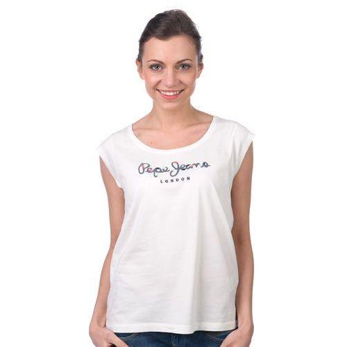 Pepe Jeans T-shirt damski Linda M kremowy (8434341498837)