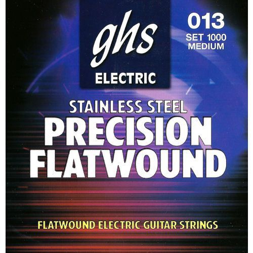 GHS Precison Flatwound struny do gitary elektrycznej, Ultra Light,.013-.054