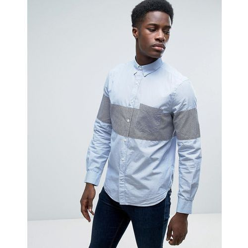 French Connection Shirt In Slim Fit With All Over Paisley Print - Blue