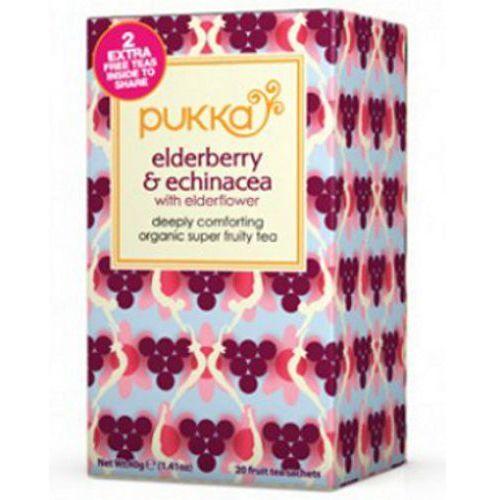Herbata elderberry&echinacea - , 20 saszetek marki Pukka