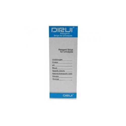 8 items paski testowe (oznaczane parametry: glukoza, bilirubina, ketony, ciężar właściwy, krew, ph, białko, urobilinogen) wyprodukowany przez Dirui