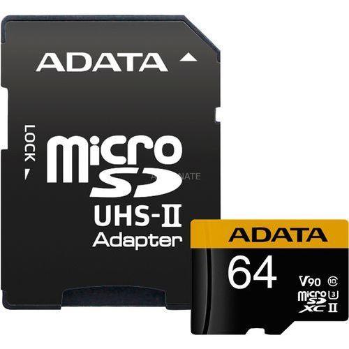 premier one v90 64gb microsdxc uhs-ii klasa 10 pamięć flash marki Adata