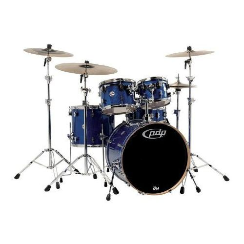 Pdp (pd806029) drumset silver to black sparkle fade