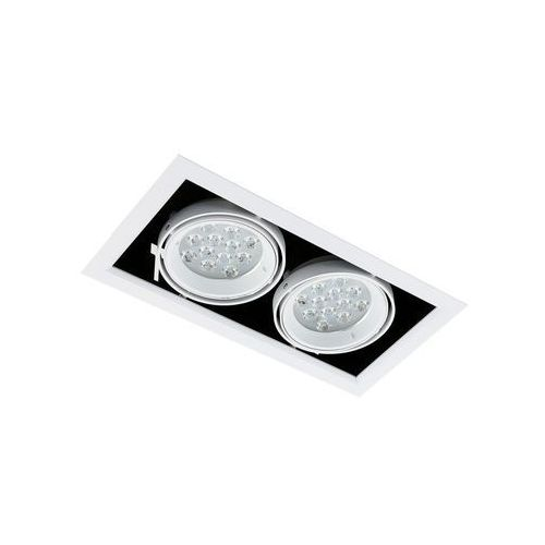 Spot LAMPA sufitowa VERNELLE TG0004-2 Italux metalowa OPRAWA LED 24W prostokątny PLAFON biały, TG0004-2