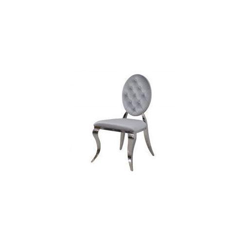 Krzesło Ludwik II glamour Silver - nowoczesne krzesła pikowane guzikami