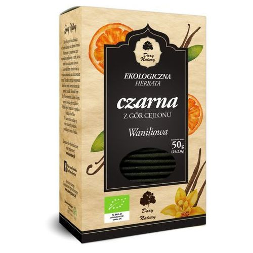 Herbata czarna waniliowa bio (25 x 2 g) - dary natury marki Dary natury - test