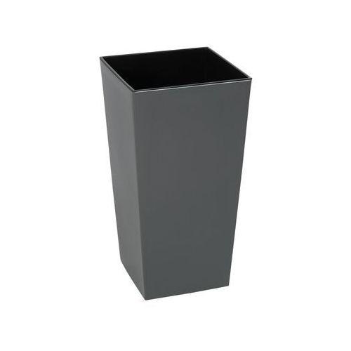 Doniczka plastikowa 25 x 25 cm antracytowa FINEZJA (5900119825332)