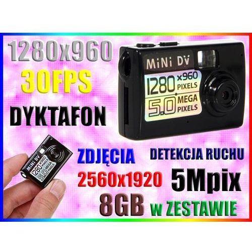MINI UKRYTA KAMERA SZPIEGOWSKA HD DYKTAFON +8GB (kamera monitoringowa)