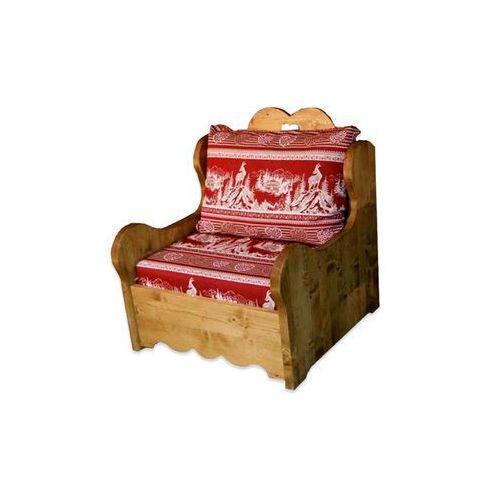 Fotel z drewna świerkowego Mexicana 1 ze sklepu Seart - Meble z Drewna
