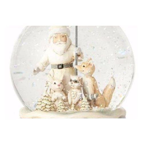 Jim shore Kula śnieżna białe święta white woodland santa waterball 4058740 figurka ozdoba świąteczna
