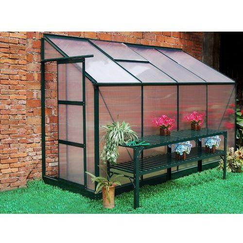 Vente-unique Szklarnia ogrodowa z poliwęglanu dostawiana do budynku o pow. 2,9 m² zenais z podstawą