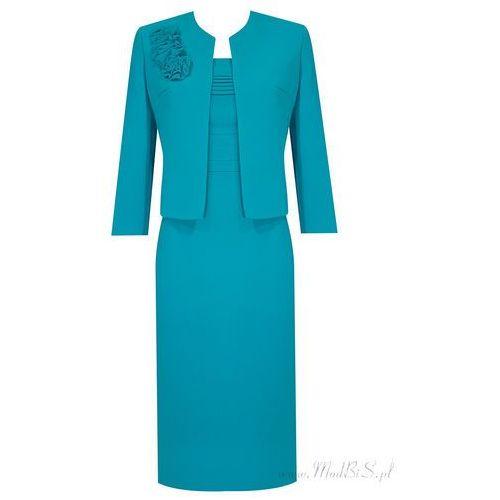 Kostium damski Izolda VI, klasyczny komplet z eleganckiej tkaniny. - Izolda VI - produkt z kategorii- garsonki i kostiumy