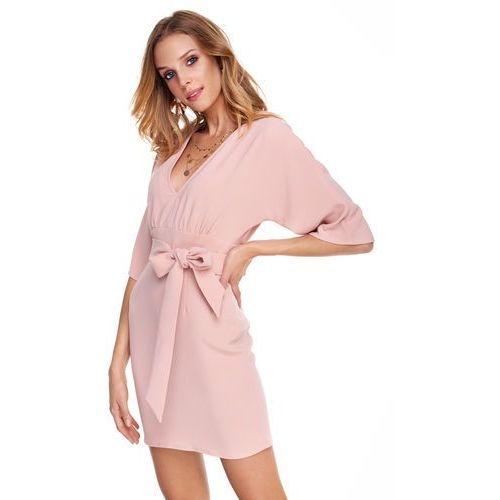 Sukienka Silia w kolorze brzoskwiniowym, w 2 rozmiarach