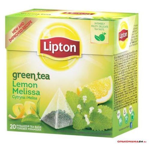 Herbata LIPTON PIRAMID GREEN LEMON MELISA 20t